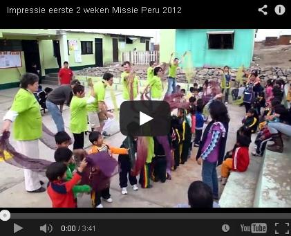 Filmpje Mission trip Peru 2012 eerste 2 weken